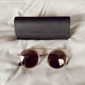 BCBGMAXAZRIA Gold Round Sunglasses